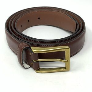 """Roundtree & Yorke Brown Big Tall Leather Belt 54"""""""